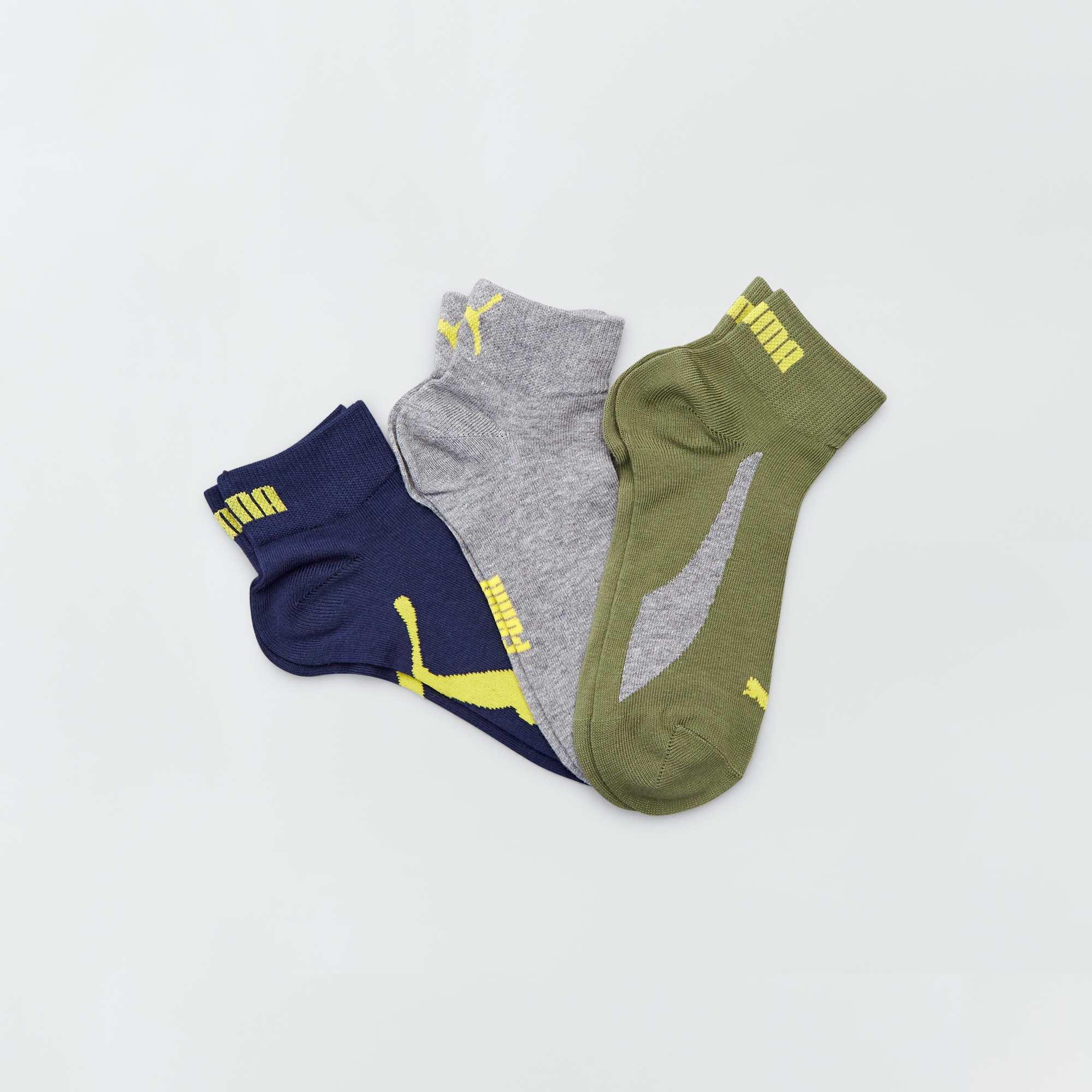 21930042ee Lot de 3 paires de chaussettes basses 'Puma' Homme - kaki/gr/bleu ...