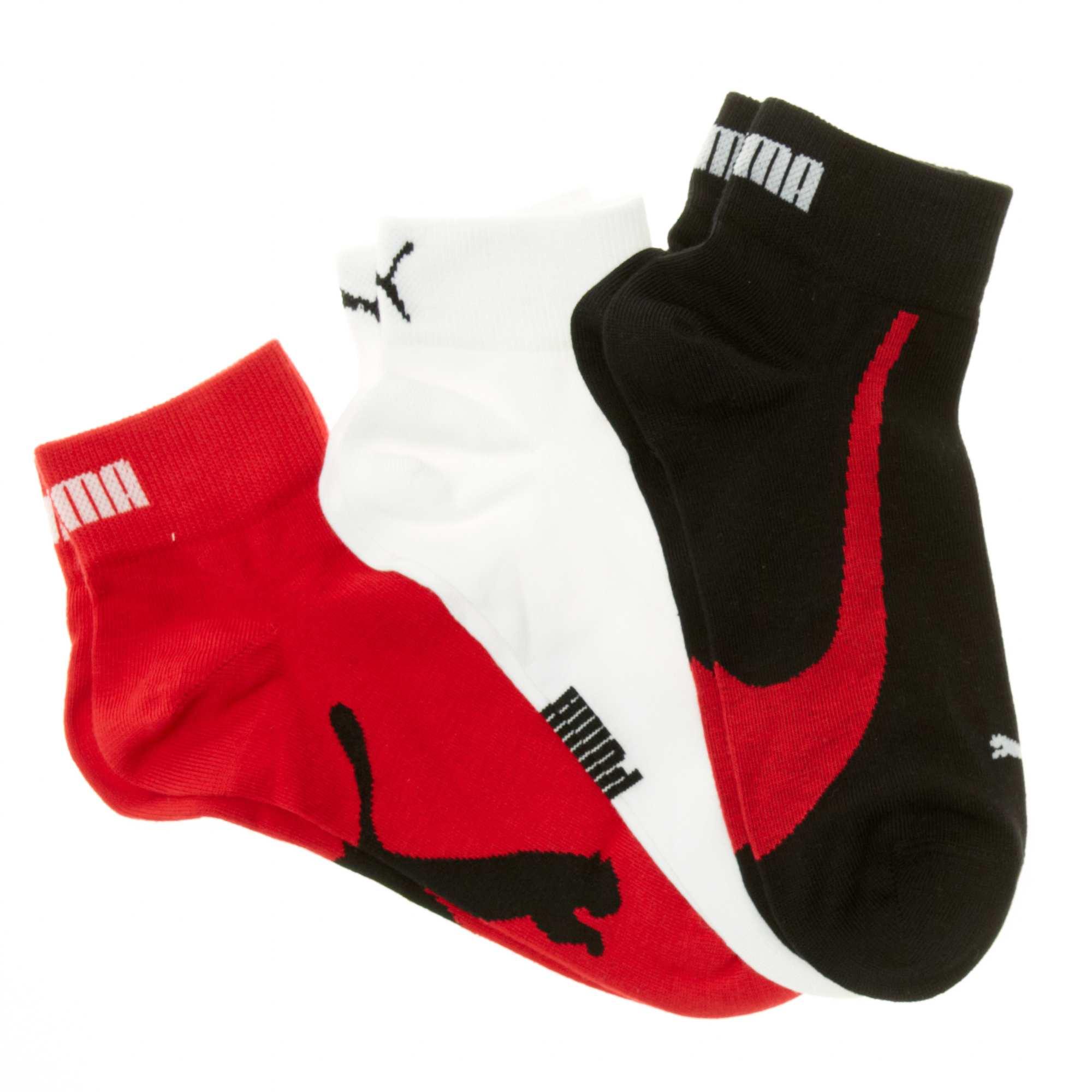 d4347d3a03261 Lot de 3 paires de chaussettes basses 'Puma' Homme - noir/blanc ...