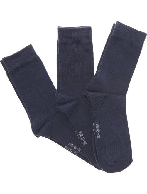 Lot de 3 paires de chaussettes                                         bleu Grande taille homme