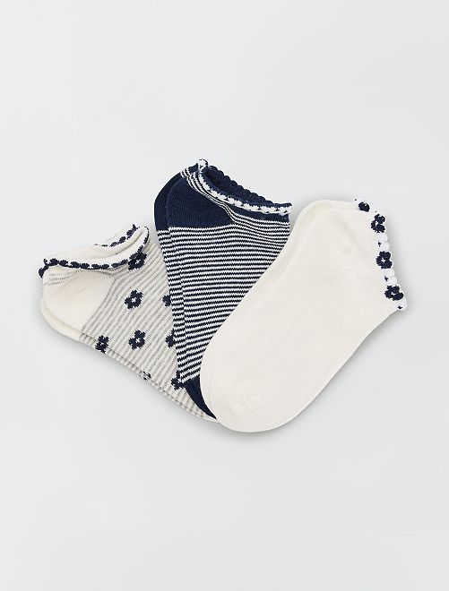 Lot de 3 paires de chaussettes                     bleu/blanc