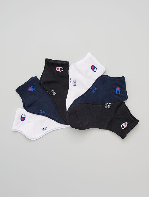 Lot de 3 paires de chaussettes courtes 'Champion'                                                     mne/blc/noir