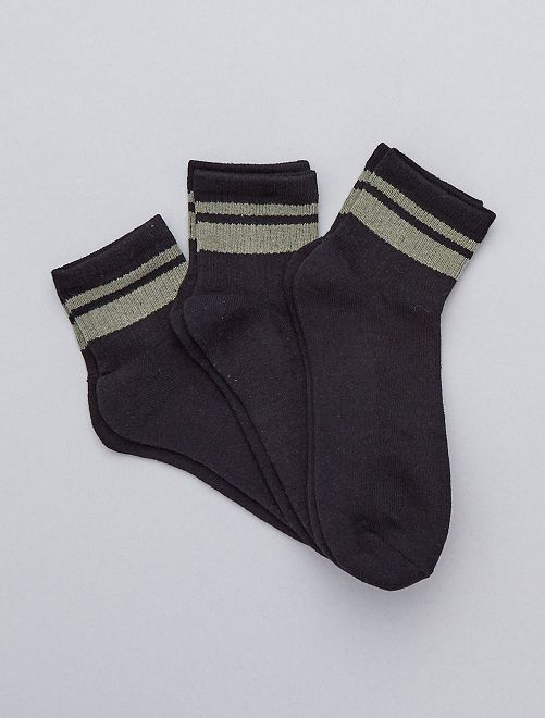 Lot de 3 paires de chaussettes de sport                                         NOIR Homme