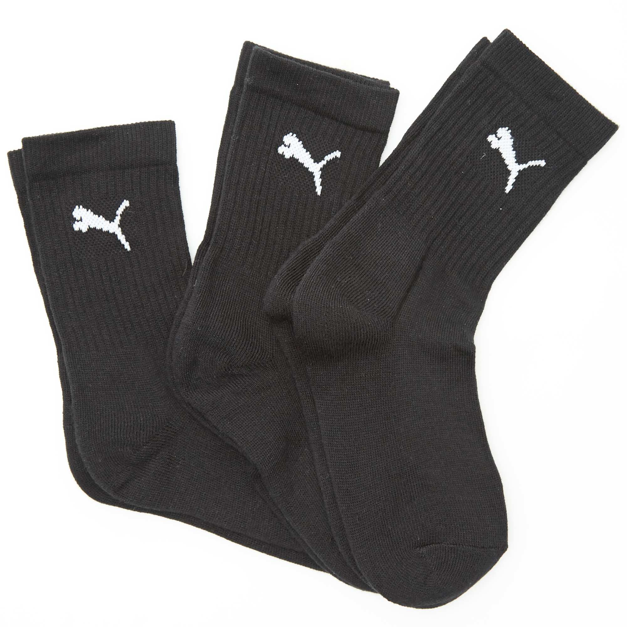 lot de 3 paires de chaussettes de sport 39 puma 39 noir gar on kiabi. Black Bedroom Furniture Sets. Home Design Ideas