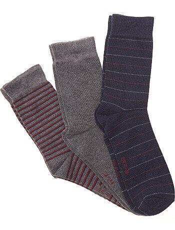 Lot de 3 paires de chaussettes fantaisie - Kiabi