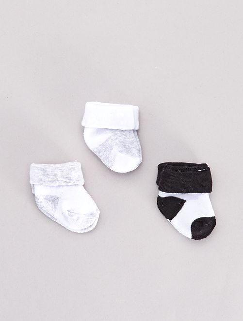 Lot de 3 paires de chaussettes                                         gris Bébé garçon