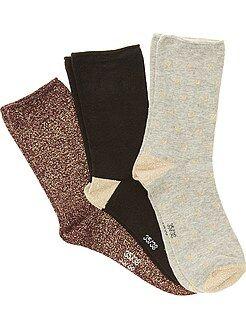 Lingerie du S au XXL Lot de 3 paires de chaussettes