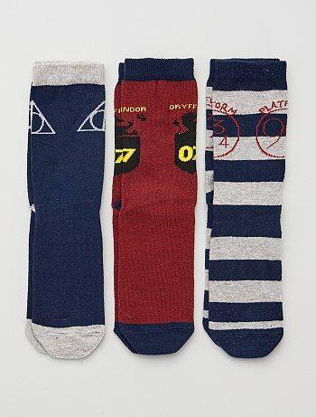 Lot de 3 paires de chaussettes 'Harry Potter'