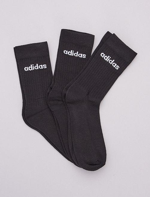 Lot de 3 paires de chaussettes hautes 'adidas'                             noir