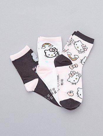 Lot de 3 paires de chaussettes `Hello Kitty`