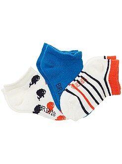 Chaussettes, collants - Lot de 3 paires de chaussettes invisbles - Kiabi
