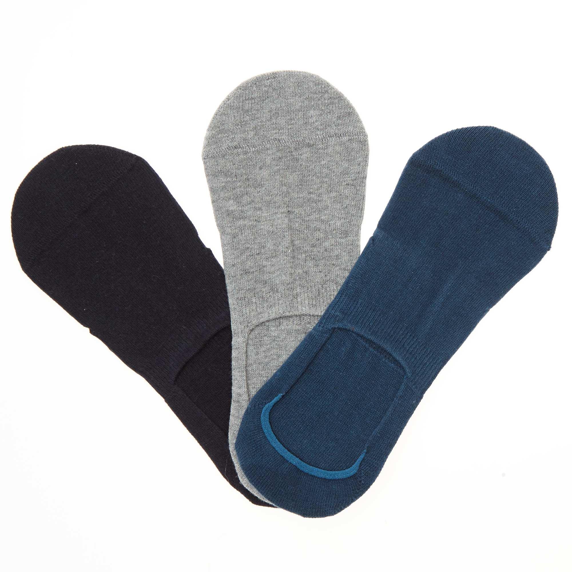 c93020a6b29 Lot de 3 paires de chaussettes invisibles Homme - bleu gris - Kiabi ...