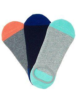 Homme du S au XXL Lot de 3 paires de chaussettes invisibles