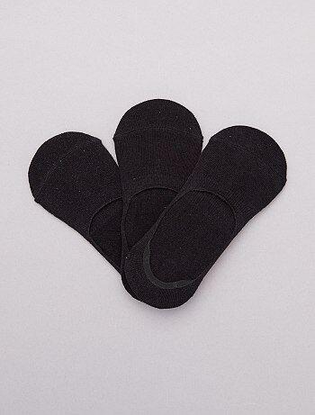 133c3a1d6561a Lingerie du S au XXL - Lot de 3 paires de chaussettes invisibles - Kiabi