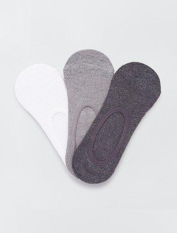 Lot de 3 paires de chaussettes invisibles - Kiabi