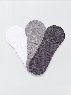 Lingerie du S au XXL Lot de 3 paires de chaussettes invisibles