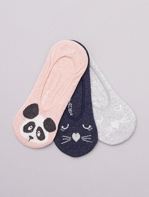 Lot de 3 paires de chaussettes invisibles                                                                 ROSE