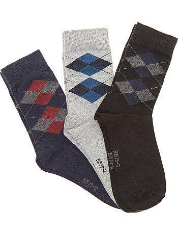 Lot de 3 paires de chaussettes jacquard