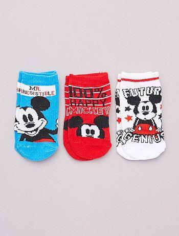 Lot de 3 paires de chaussettes 'Mickey' 'Disney'