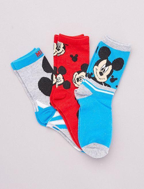 Lot de 3 paires de chaussettes 'Mickey' 'Disney'                                         bleu