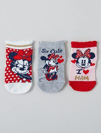 Lot de 3 paires de chaussettes 'Minnie' 'Disney'