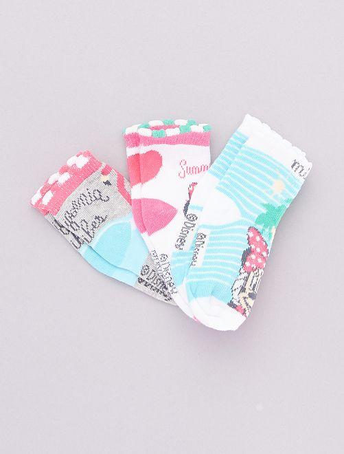 Lot de 3 paires de chaussettes 'Minnie'                                         gris