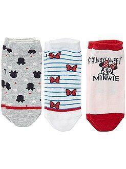 Lot de 3 paires de chaussettes 'Minnie' - Kiabi