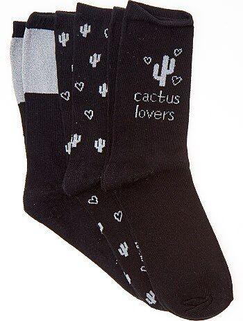 Lingerie du S au XXL - Lot de 3 paires de chaussettes - Kiabi