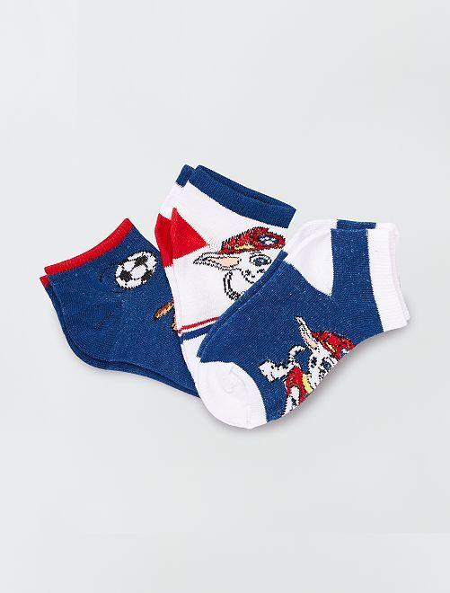 Lot de 3 paires de chaussettes 'Pat'Patrouille'                             bleu