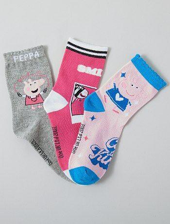 Lot de 3 paires de chaussettes 'peppa Pig'