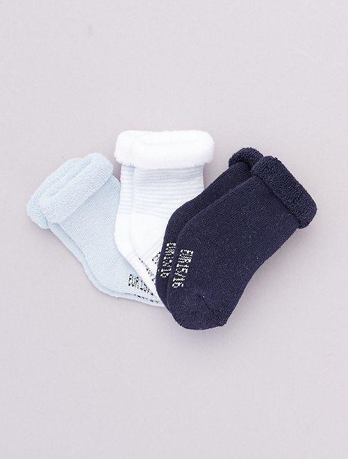 Lot de 3 paires de chaussettes pour bébé                                                                 BLEU