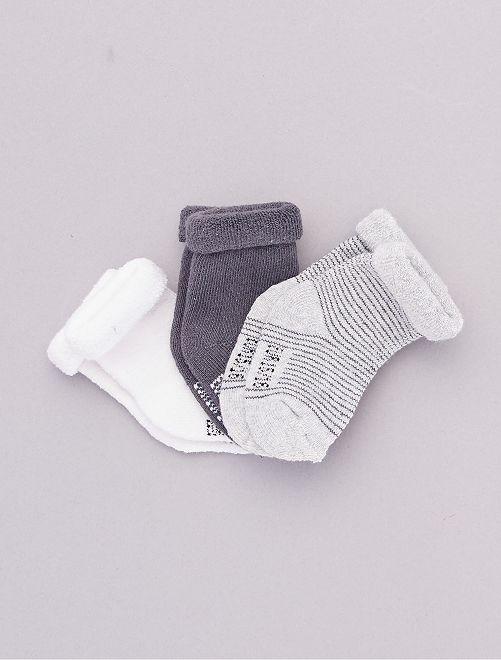 Lot de 3 paires de chaussettes pour bébé                                                                 gris