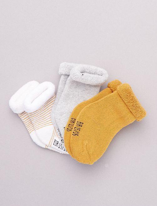 Lot de 3 paires de chaussettes pour bébé Bébé fille - orange - Kiabi - 4,00€