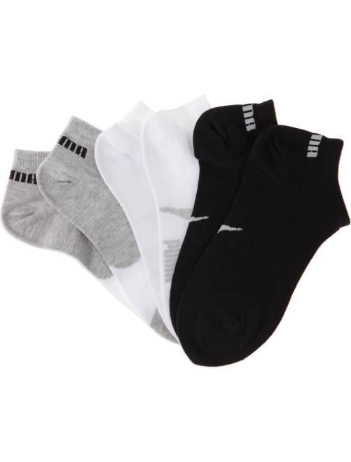 Lot de 3 paires de chaussettes 'Puma' tige courte                                         blanc/gris/noir