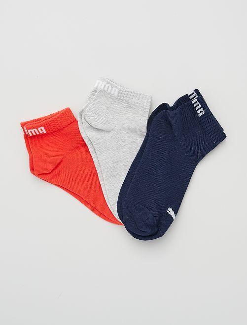 Lot de 3 paires de chaussettes 'Puma' tige courte                                                                             bleu/gris/rouge