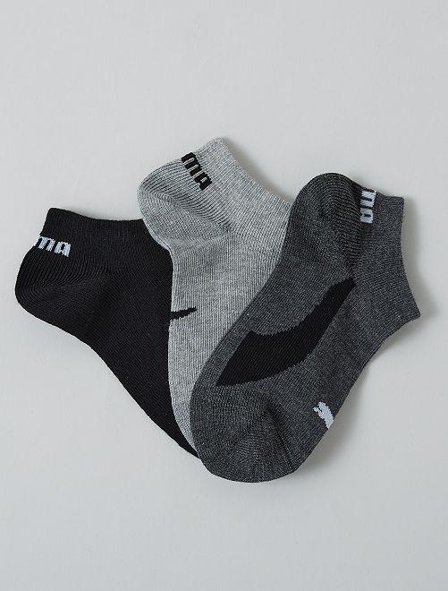 Lot de 3 paires de chaussettes 'Puma' tige courte                                 noir/gris