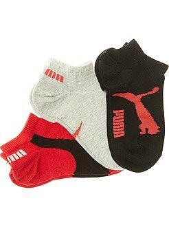 Garçon 4-12 ans Lot de 3 paires de chaussettes 'Puma' tige courte