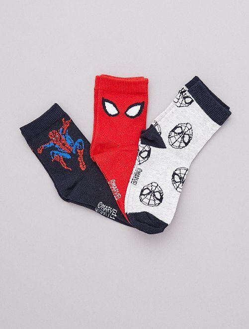 Lot de 3 paires de chaussettes 'Spider-man'                             spiderman