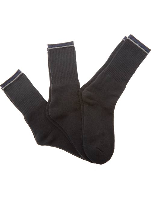 lot de 3 paires de chaussettes sport homme noir kiabi. Black Bedroom Furniture Sets. Home Design Ideas