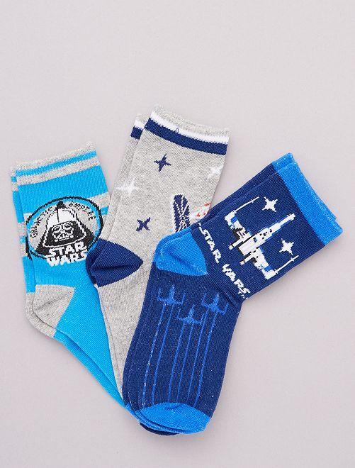 Lot de 3 paires de chaussettes 'Star Wars'                                         bleu