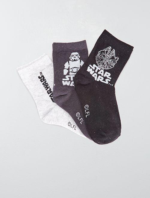 Lot de 3 paires de chaussettes 'Star Wars'                             gris/blanc/noir
