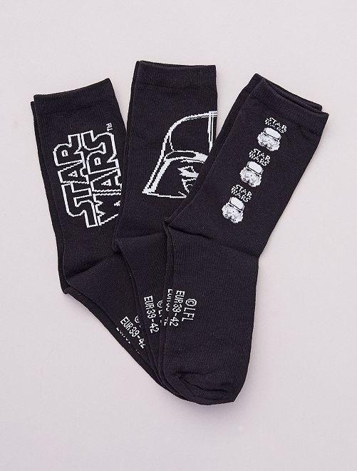 Lot de 3 paires de chaussettes 'Star Wars'                             noir