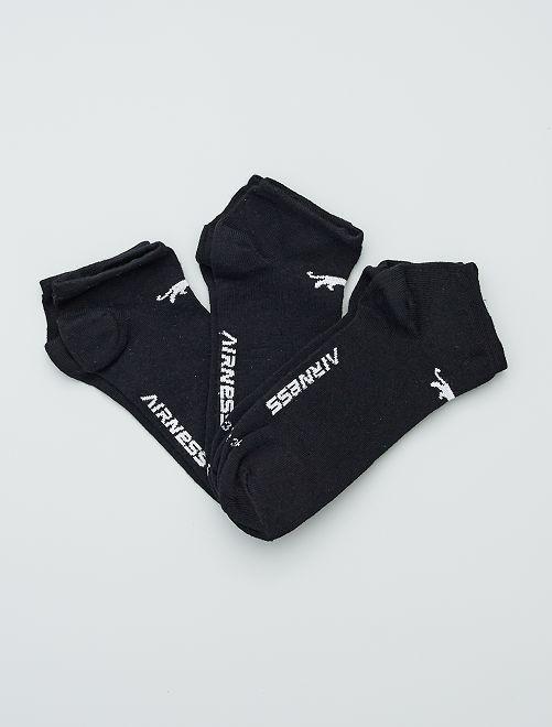 Lot de 3 paires de socquettes 'Airness'                     noir