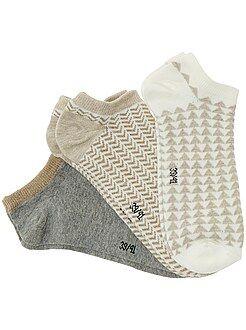 Collants, chaussettes - Lot de 3 paires de socquettes - Kiabi