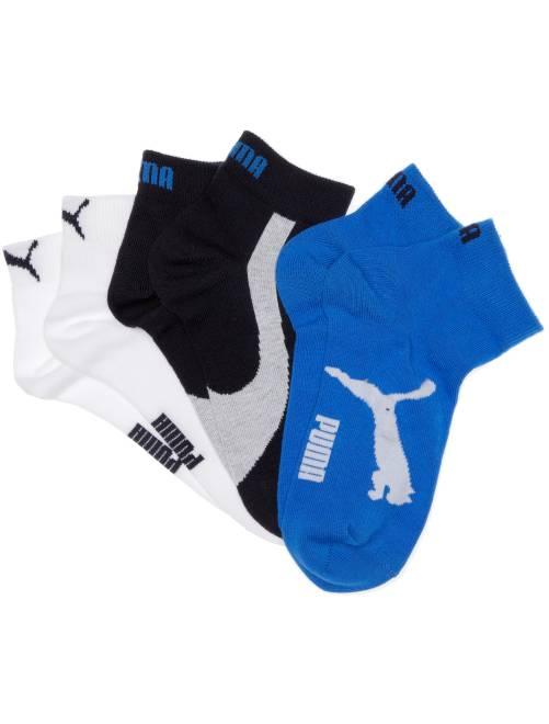 Lot de 3 paires de socquettes 'Puma' à tige courte                                                                                                                 marine/blanc/bleu
