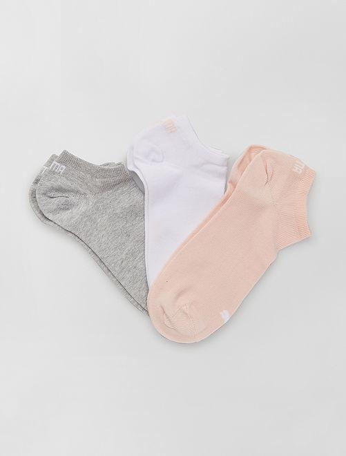 Lot de 3 paires de socquettes 'Puma'                                                                                                                                                     blanc/gris/rose