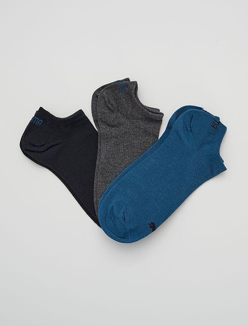 Lot de 3 paires de socquettes 'Puma'                                                                                                                                                     bleu/gris