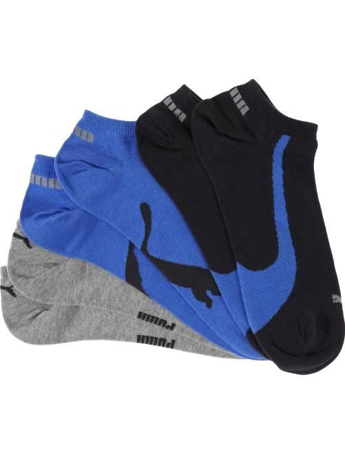 Lot de 3 paires de socquettes 'Puma'                             bleu/gris/noir