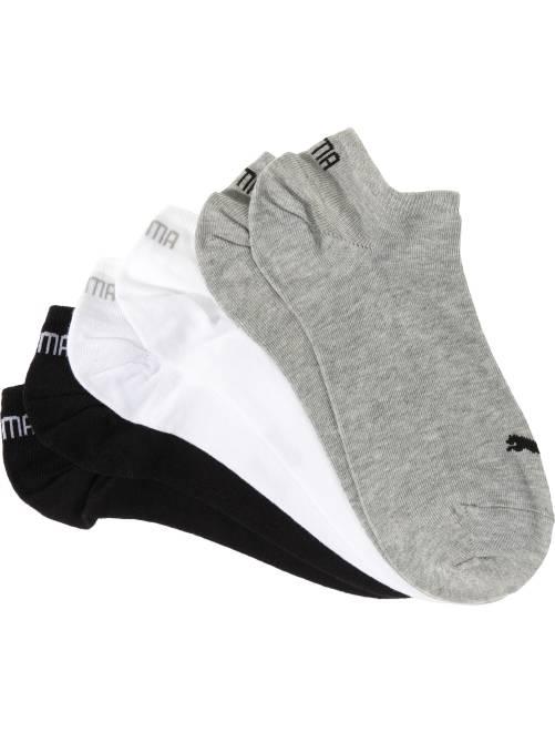 Lot de 3 paires de socquettes 'Puma'                                                                             gris/blanc/noir