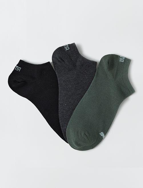 Lot de 3 paires de socquettes 'Puma'                                                                             kaki/gris/noir
