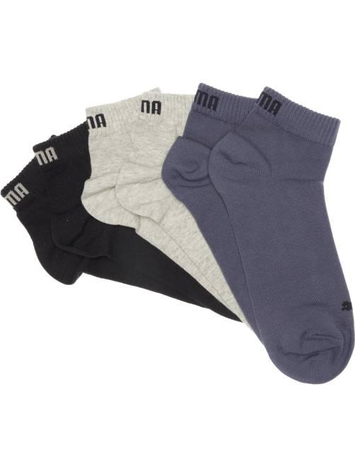 Lot de 3 paires de socquettes 'Puma' tige courte                                                                                                                                         bleu/gris/blanc
